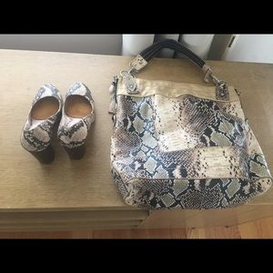 Never Used Snakeskin Bag&Like New shoes
